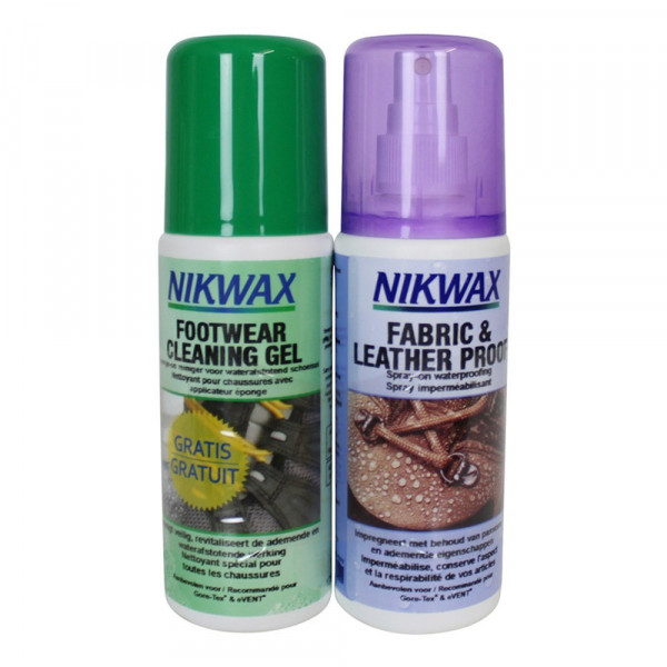 Nikwax Fabric and leather Proof + Footwear cleaning gel